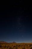 Gwiaździsta noc nad Atacama pustynią Zdjęcie Royalty Free