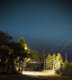 Gwiaździsta nocne niebo łuna Zdjęcia Royalty Free