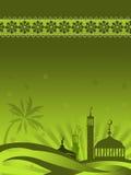 gwiaździstej nocy z meczetu Fotografia Royalty Free