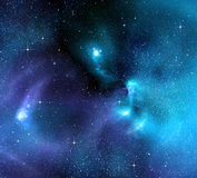 gwiaździsty głęboki tło kosmos Zdjęcie Stock