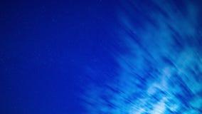 Gwiaździsty niebo czasu upływ przy nocą zbiory wideo