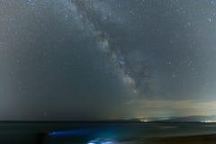Gwiaździsty niebo i Milky sposób zdjęcie royalty free