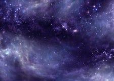 Gwiaździsty niebo w otwartej przestrzeni ilustracji