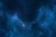 Gwiaździsty nocne niebo przestrzeni tło fotografia stock