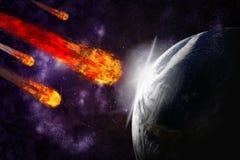 gwiaździsty tła ziemi planety starfield royalty ilustracja