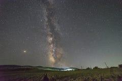 Gwiaździsty niebo Crimea obraz stock