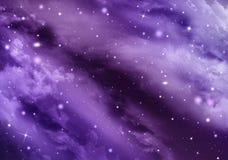 Gwiaździsty niebo w otwartej przestrzeni Zdjęcie Stock