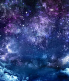 Gwiaździsty niebo w otwartej przestrzeni Obrazy Stock