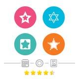 Gwiazd Dawidowa ikony israel symbol Fotografia Royalty Free