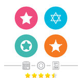 Gwiazd Dawidowa ikony israel symbol Zdjęcia Royalty Free
