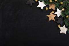 Gwiazd i bożych narodzeń ornamenty, rabatowy projekt na backboard, Fotografia Royalty Free