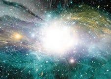 Gwiazd, pyłu i gazu mgławica w dalekim galaxy, ilustracji