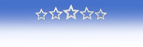5 gwiazd rozmiaru szeroki copyspace obraz stock