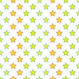 Gwiazda bezszwowy Kolorowy Wzór Obrazy Stock