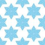 Gwiazda Dawidowa bezszwowy wzór Obrazy Royalty Free