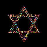 Gwiazda Dawidowa kształt Fotografia Royalty Free