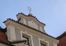 Gwiazda Dawidowa na Żydowskim urząd miasta, Praga, republika czech obrazy royalty free