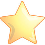 gwiazda ikony Zdjęcia Royalty Free