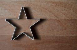Gwiazda kształtująca jedzenie pierścionku foremka fotografia stock