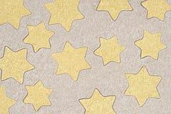 Gwiazda kształtów deseniowy rysunek w piasku Fotografia Stock