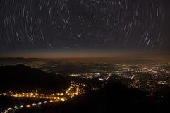 Gwiazdy miasto i ślada Obraz Royalty Free