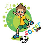 gwiazda piłki nożnej Obrazy Stock