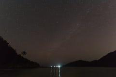 Gwiazda przy noc obraz stock