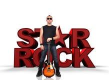 Gwiazda rocka mężczyzna Fotografia Royalty Free