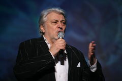 Gwiazda Rosyjska i Radziecka muzyka, muzyka popularna idol, honorujący mężczyzna, milioner, autor, piosenkarz, kompozytor Vyaches Obraz Stock