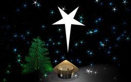 gwiazda w domu ilustracja wektor