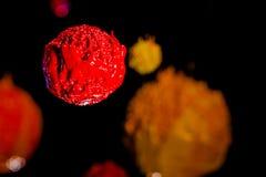Gwiazda w wszechświacie głęboka przestrzeń plastisol atrament Fotografia Royalty Free