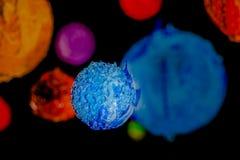 Gwiazda w wszechświacie głęboka przestrzeń plastisol atrament Zdjęcia Stock