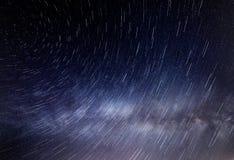 Gwiazda wlec fotografię i chmurę milky sposób, gwiazda ślada Fotografia Stock