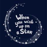 Gwiazda wybuchu przestrzeń, Gdy ty życzysz w górę gwiazdy dalej również zwrócić corel ilustracji wektora obraz royalty free