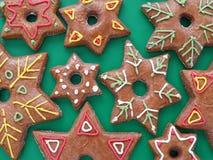 Gwiazdkowaci piernikowi ciastka Zdjęcie Stock