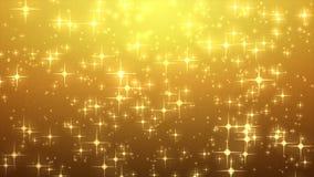 Gwiazdowa łuna na złocistym tle z bokeh skutkiem Z ostrości, Co Fotografia Royalty Free