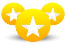 Gwiazdowa ikona z składem 3 okręgu z gwiazdami ciie w one Fotografia Stock