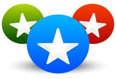 Gwiazdowa ikona z składem 3 okręgu z gwiazdami ciie w one Zdjęcie Stock