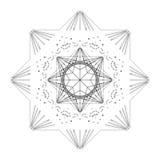 Gwiazdowa kształt płytka royalty ilustracja