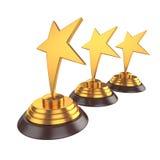 Gwiazdowa nagroda Odizolowywająca na Białym tle, 3D rendering Zdjęcie Stock