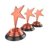 Gwiazdowa nagroda Odizolowywająca na Białym tle, 3D rendering Zdjęcia Royalty Free