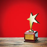 Gwiazdowa nagroda z przestrzenią dla teksta Fotografia Stock