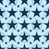 Gwiazdowa punkt gwiazda wokoło bezszwowego wzoru ilustracja wektor