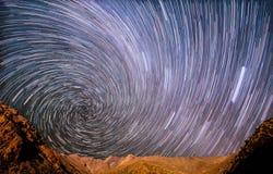 Gwiazdowa spirala w górach obrazy royalty free