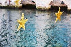 Gwiazdowe dekoracje w Treviso, Włochy Obraz Royalty Free