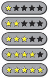 Gwiazdowe oceny royalty ilustracja