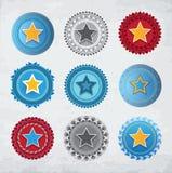 Gwiazdowe odznaki ilustracji