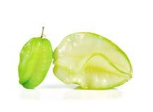 Gwiazdowe owoc zamykają w górę odosobnionego na białym tle Zdjęcie Stock