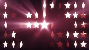 Gwiazdowego ściennego przypadkowego poruszającego fading animaci 3d światła tła bezszwowa pętla - Nowy ilość rocznika cechy ogóln ilustracja wektor
