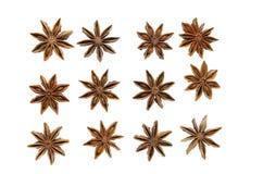 Gwiazdowego anyżu pikantność na białym tle Zdjęcia Stock